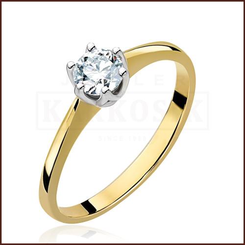 Pierścionek zaręczynowy 585 złoto z brylantem 0,40ct - 17