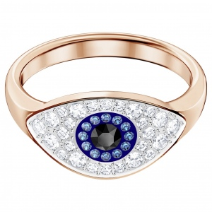Pierścionek SWAROVSKI - Duo Evil Eye 5441193 52