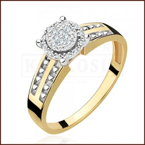 Pierścionek zaręczynowy 585 złoto z brylantami 0,09ct - 16