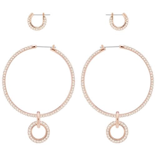 Zestaw Kolczyków SWAROVSKI - Stone Earrings Set, Rose Gold 5426004