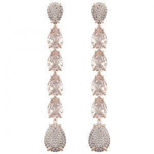 Kolczyki SWAROVSKI - Mix Long Pear, Rose Gold 5427953
