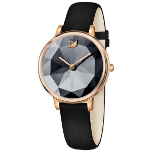 Zegarek Swarovski Crystal Lake, Leather Strap, Black 5416009
