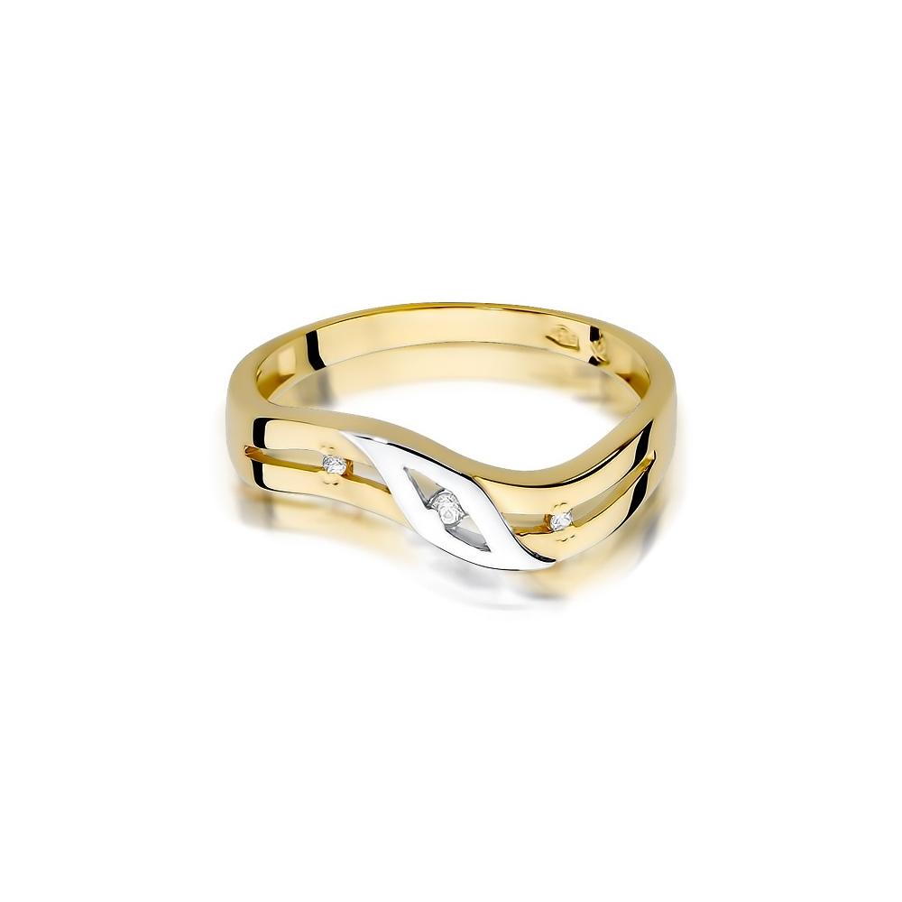 Pierścionek zaręczynowy 585 złoto z brylantem 0,02ct
