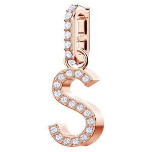 SWAROVSKI - Remix Collection Alphabet S Charm, Rose Gold 5434399