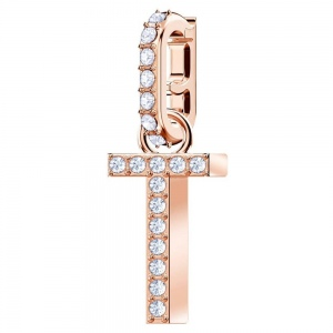 SWAROVSKI - Remix Collection Alphabet T Charm, Rose Gold 5437615