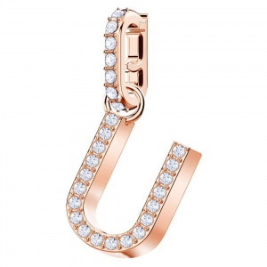SWAROVSKI - Remix Collection Alphabet U Charm, Rose Gold 5437608