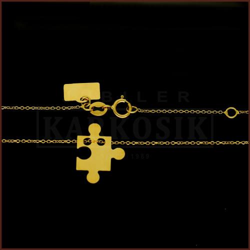 Złoty Naszyjnik Celebrytka Zawieszka Puzzle pr.585