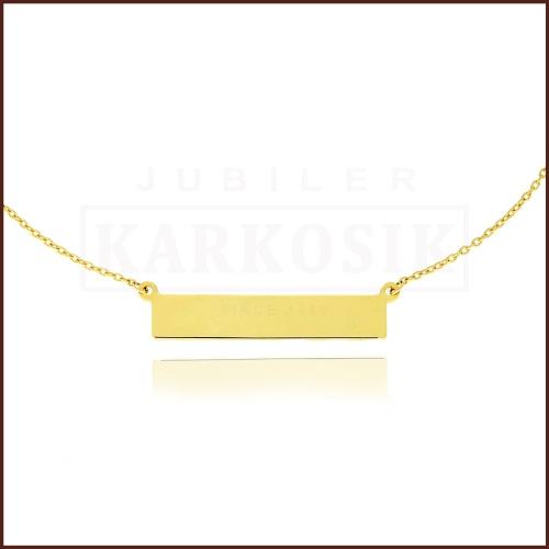 Złoty Naszyjnik Celebrytka Blaszka pr.333