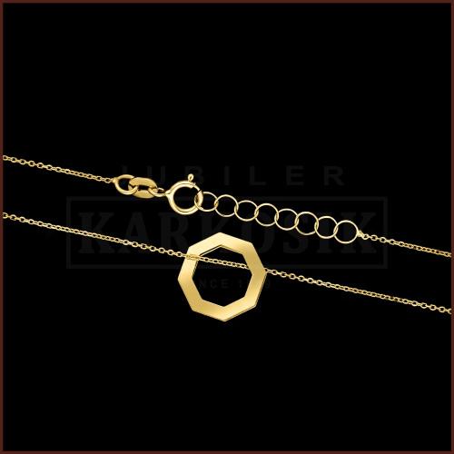 Złoty Naszyjnik Celebrytka - Ośmiokąt pr.585