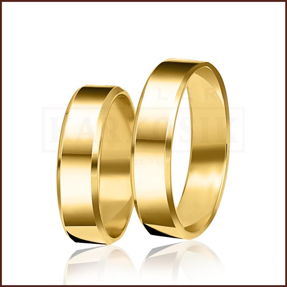Para obrączek ślubnych płaskich ściętych 4mm pr. 333