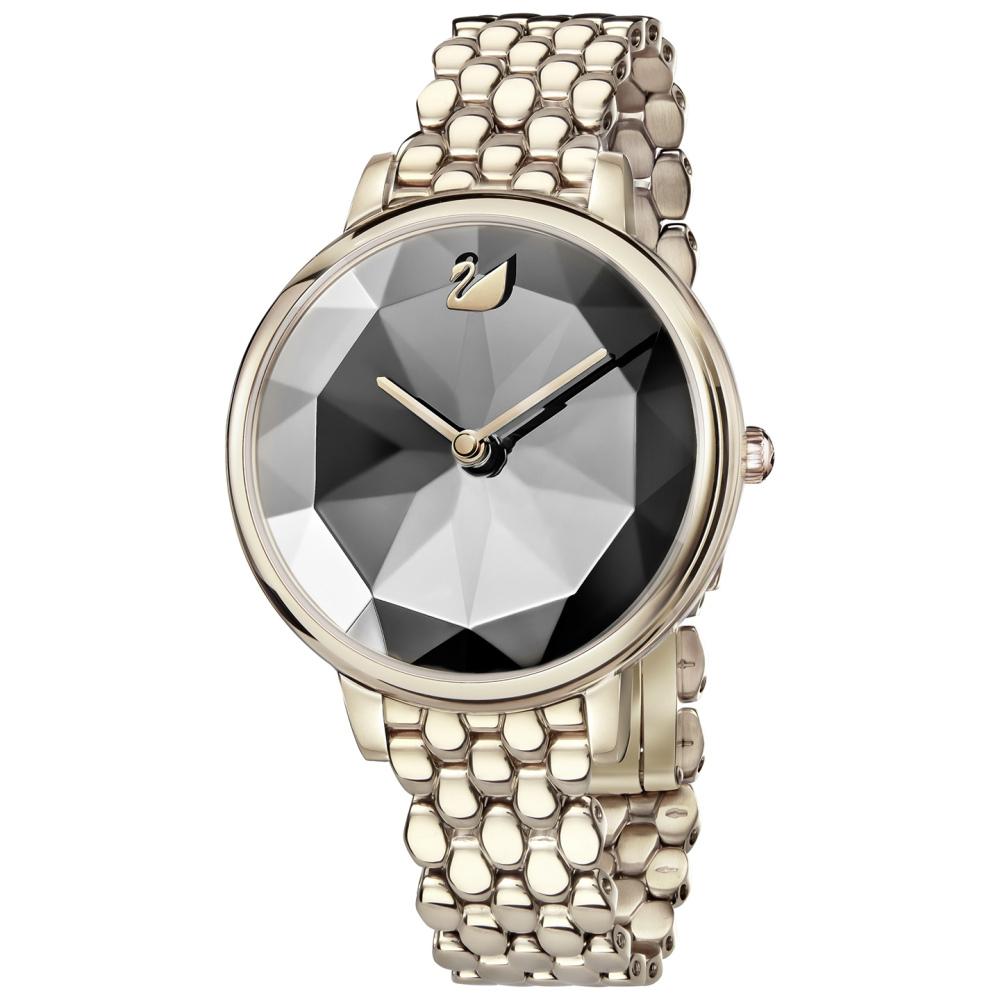 Zegarek Swarovski Crystal Lake, Metal Bracelet, Dark Gray, Champagne Gold 5416026