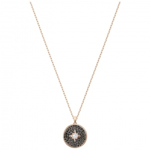 Naszyjnik SWAROVSKI - Locket  Small, Black, Rose Gold 5421295