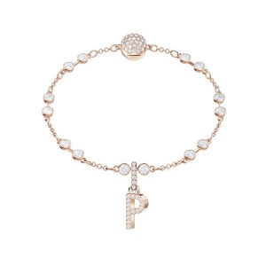 SWAROVSKI - Remix Collection Alphabet P Charm, Rose Gold 5437625