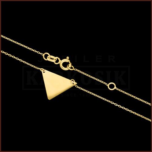 Złoty Naszyjnik Celebrytka - Trójkąt pr.585