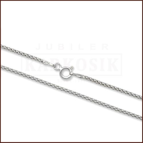Srebrny łańcuszek - Popcorn 40cm pr.925