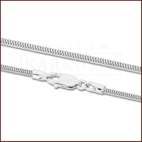 Srebrny Łańcuszek Żmijka 80cm pr. 925