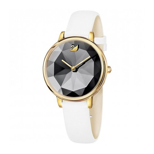 Zegarek Swarovski Crystal Lake, Leather Strap, White Yellow Gold 5416003