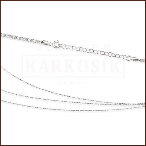 Srebrny Łańcuszek Kulki 45cm pr. 925