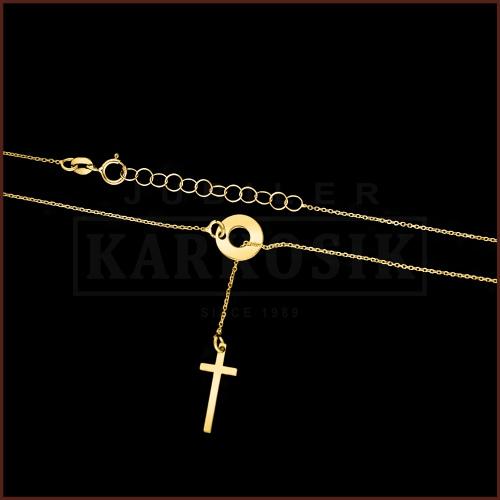 Złoty Naszyjnik Celebrytka - Krzyżyk pr.585