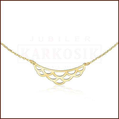 Złoty Naszyjnik Celebrytka - pr.585