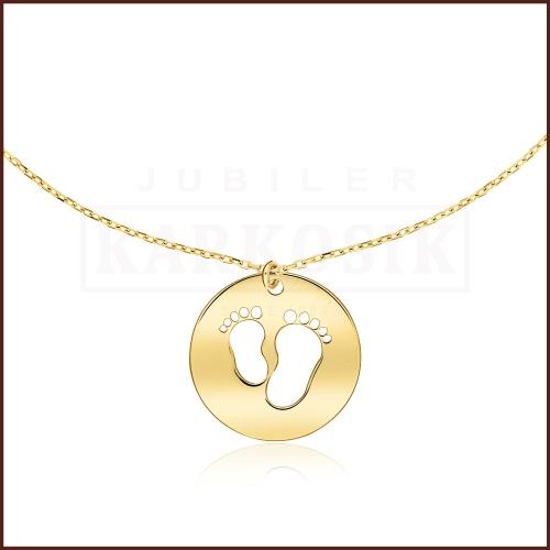 Złoty Naszyjnik Celebrytka - Stópki pr.585