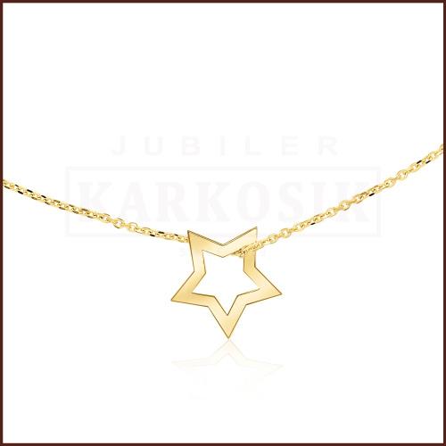 Złoty Naszyjnik Celebrytka - Gwiazdka pr.585