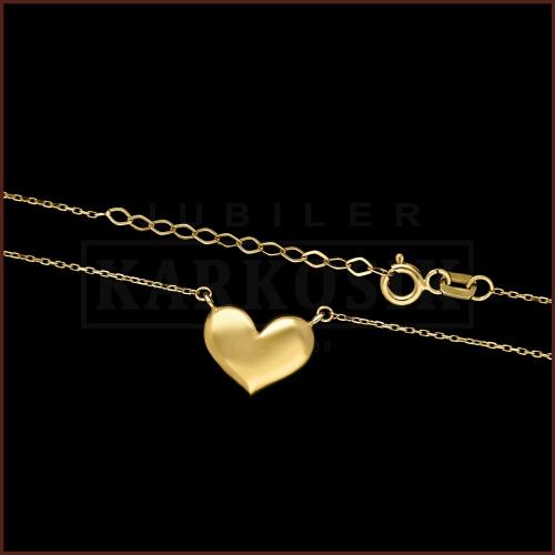 Złoty Naszyjnik Celebrytka - Serce pr.585