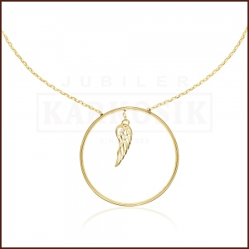 Złoty Naszyjnik Celebrytka - Skrzydła Anioła pr.585