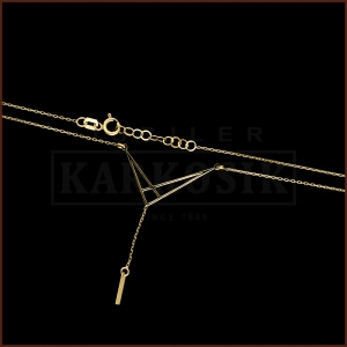 Złoty Naszyjnik Celebrytka - Latawiec Origami pr.585