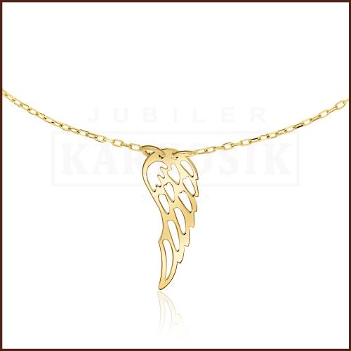 Złoty Naszyjnik Celebrytka - Skrzydło Anioła pr.585