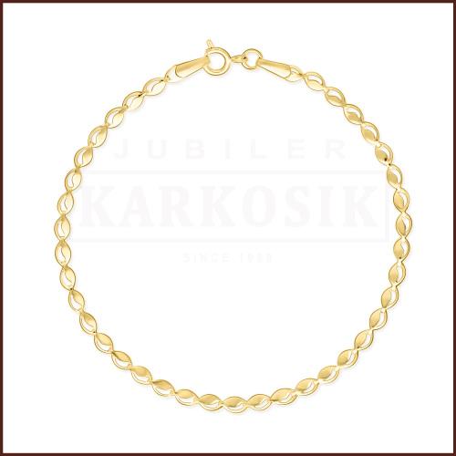 Złota Bransoletka - Łezki 19cm pr. 585