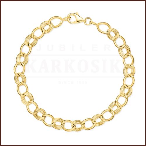 Złota Bransoletka - Ozdobne Ogniwa 19cm pr. 585