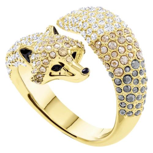 Pierścionek SWAROVSKI - March Fox Motif Ring, Multi-colored, Gold 5410400 55