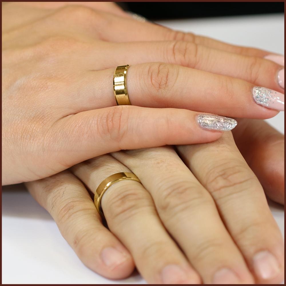 Obrączka ślubna płaska ścięta 5mm pr. 333