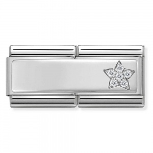 Nomination -  Double Link 925 Silver Płytka gwiazdka do graweru 330731/10