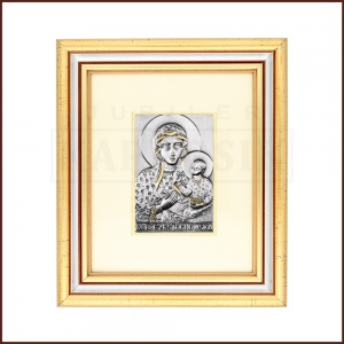 Srebrny Obrazek Matka Boska Częstochowska