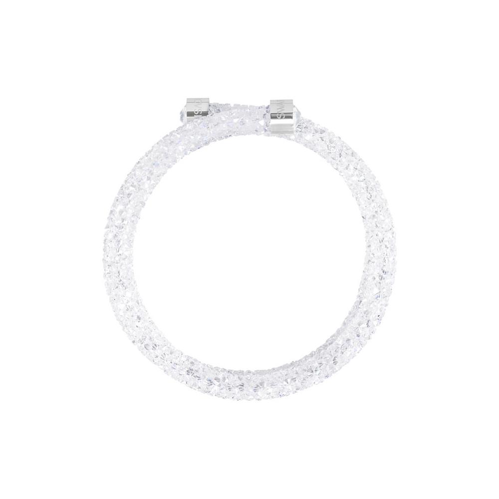 Bransoletka SWAROVSKI - Crystaldust Bangle Double, White 5237754