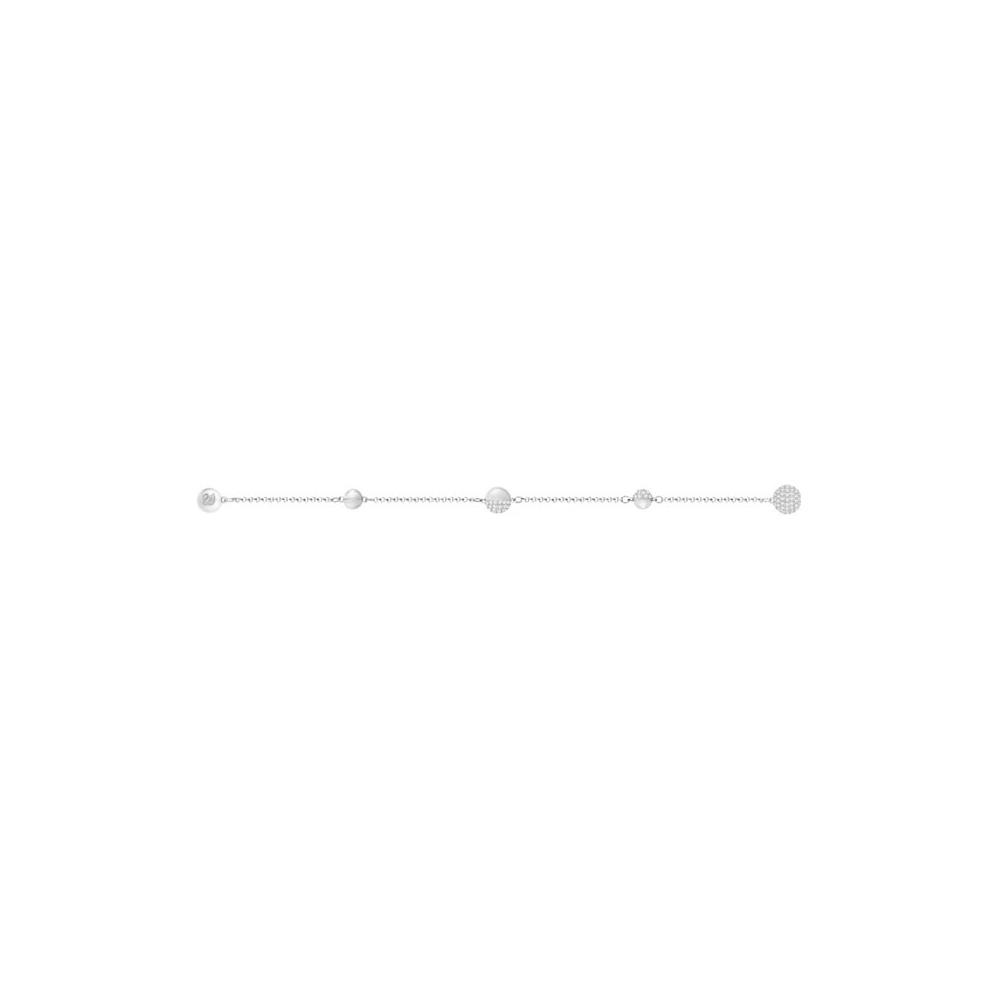 Bransoletka SWAROVSKI - Remix Collection, Round Shape, White, Rhodium 5365758