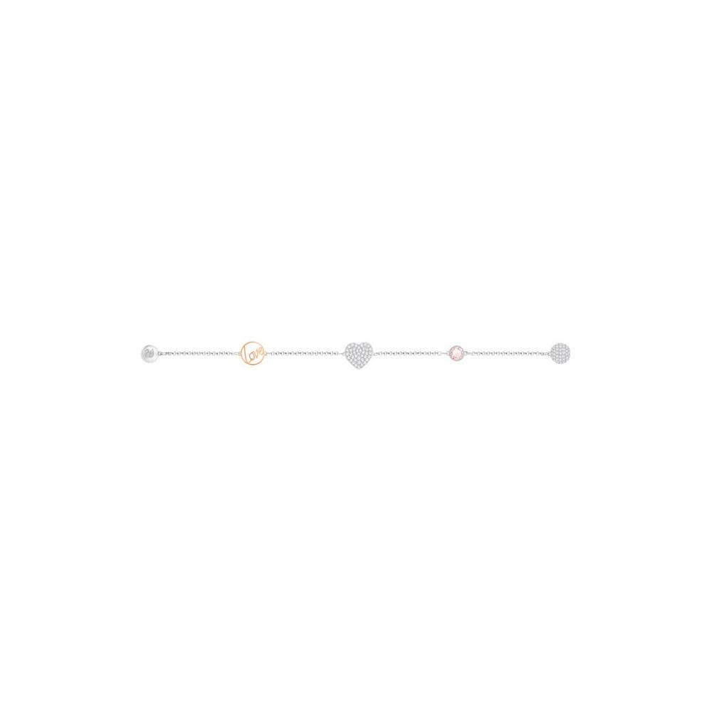 Bransoletka SWAROVSKI - Remix Collection Heart, Pink 5365760