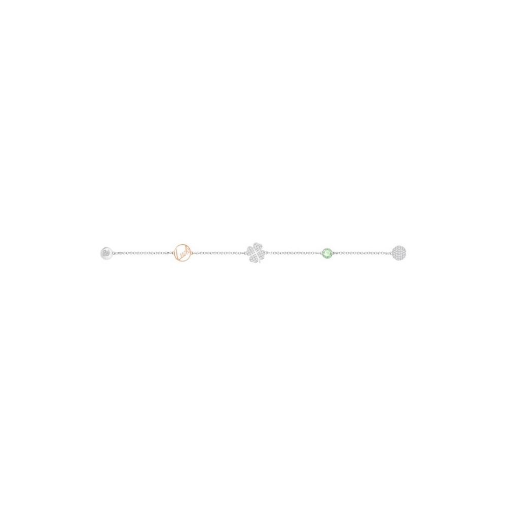 Bransoletka SWAROVSKI -Remix Collection Clover, Green 5365755