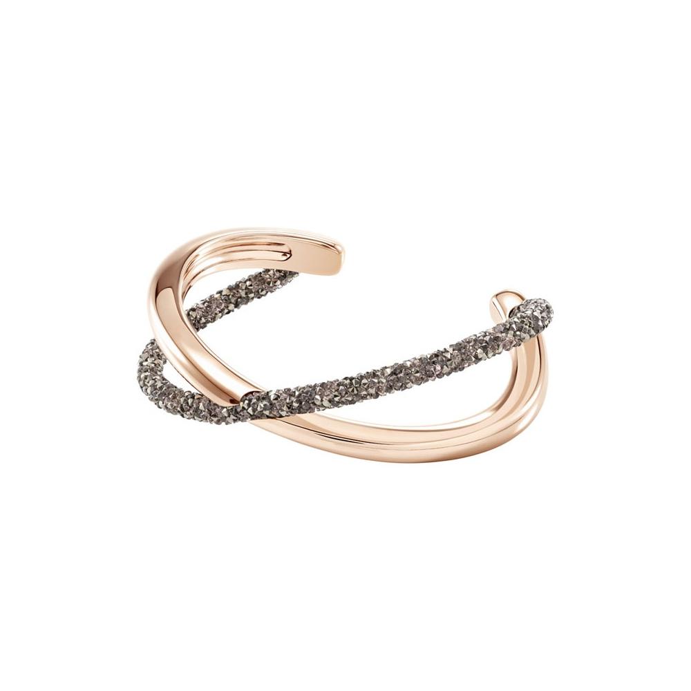 Bransoletka SWAROVSKI - Crystaldust Cross Cuff, Rose gold 5291198