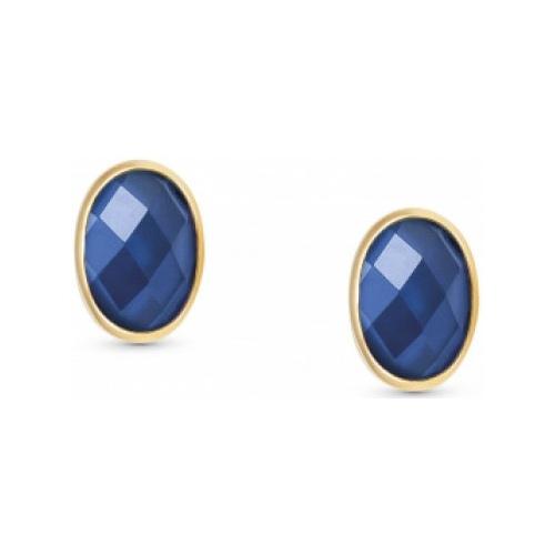Kolczyki Nomination Gold - Niebieska Cyrkonia 027841/007