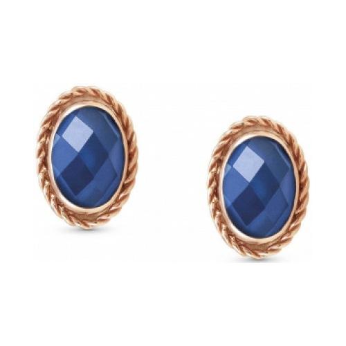 Kolczyki Nomination Rose Gold - Niebieska Cyrkonia 027821/007