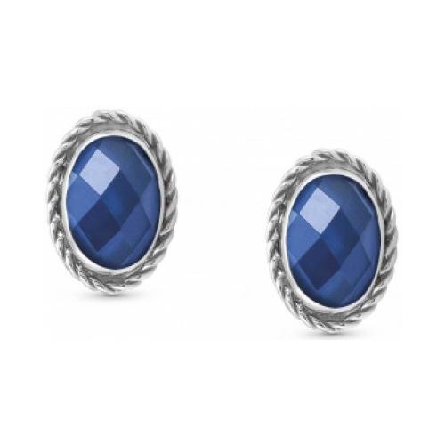 Kolczyki Nomination Silver - Niebieska Cyrkonia 027801/007