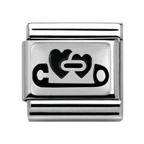 Nomination - Link 925 Silver 'Serca i agrafka' 330102/06