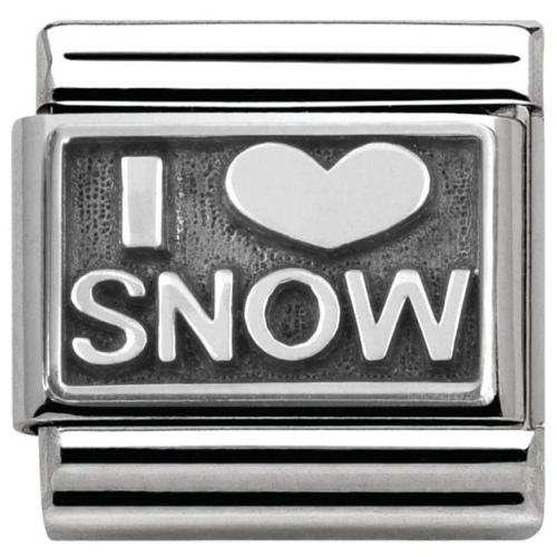 Nomination - Link 925 Silver 'I love snow' 330102/21
