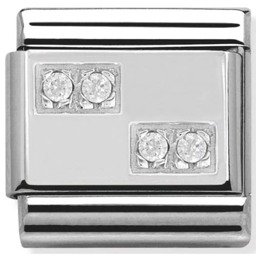 Nomination - Link 925 Silver 'Szachownica' 330304/08
