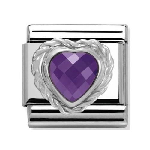 Nomination - Link 925 Silver 'Fioletowe serce' 330603/001