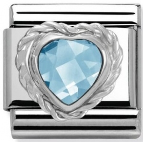 Nomination - Link 925 Silver 'Niebieskie serce' 330603/006