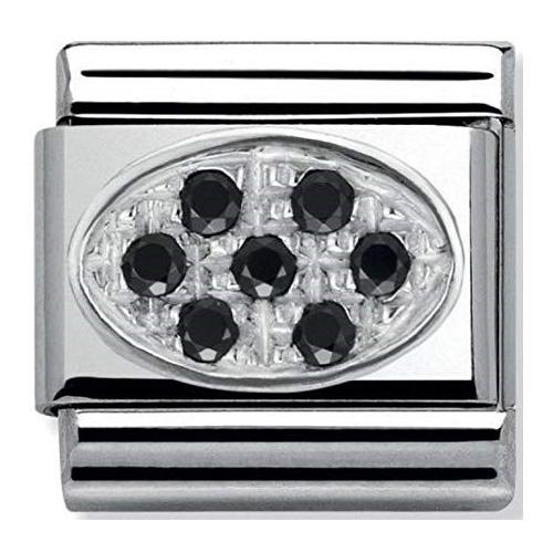 Nomination - Link 925 Silver 'Czarne cyrkonie' 330308/10